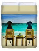 Beach Bums Duvet Cover by Roger Wedegis