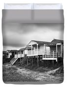 Beach Huts North Norfolk Uk Duvet Cover by John Edwards