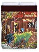 Bear Post Duvet Cover by Nadi Spencer