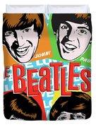 Beatles Pop Art Duvet Cover by Jim Zahniser