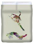 Beautiful Ballet Duvet Cover by Naxart Studio