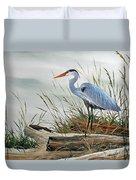Beautiful Heron Shore Duvet Cover by James Williamson