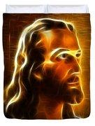 Beautiful Jesus Portrait Duvet Cover by Pamela Johnson