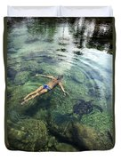 Beautiful Man And Turtle Duvet Cover by Brandon Tabiolo - Printscapes