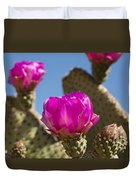 Beavertail Cactus Blossom 2 Duvet Cover by Kelley King