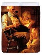Bedtime Stories Duvet Cover by Greg Olsen