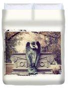 Bellefontaine Angel Polaroid Transfer Duvet Cover by Jane Linders