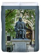 Ben Franklin At The University Of Pennsylvania Duvet Cover by John Greim