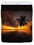 Bending Palm Duvet Cover by Ron Dahlquist - Printscapes