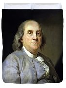 Benjamin Franklin Duvet Cover by War Is Hell Store