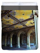 Bethesda Terrace Arcade In Central Park Duvet Cover by James Aiken