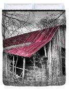 Big Red Duvet Cover by Debra and Dave Vanderlaan
