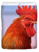 Big Red Rooster Duvet Cover by James W Johnson