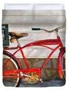 Bike - Delivery Bike Duvet Cover by Mike Savad