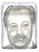 Billy Joel Portrait Duvet Cover by Carol Wisniewski