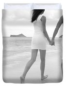 Black and white couple Duvet Cover by Brandon Tabiolo - Printscapes