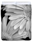 Black And White Gerbera Daisies 1 Duvet Cover by Amy Fose