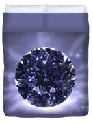 Black Diamond Shine Aura. Duvet Cover by Atiketta Sangasaeng