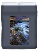 Black Point Light Duvet Cover by Meirion Matthias