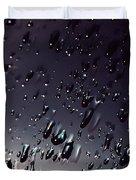 Black Rain Duvet Cover by Steven Milner