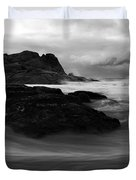Black Rock  Swirl Duvet Cover by Mike  Dawson