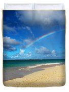 Blessed With A Rainbow Duvet Cover by Kerri Ligatich