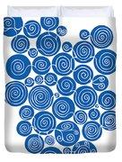 Blue Abstract Duvet Cover by Frank Tschakert