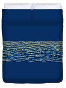 Blue And Gold Duvet Cover by Steve Gadomski