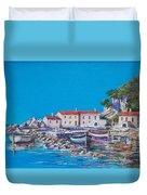 Blue Bay Duvet Cover by Sinisa Saratlic