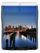 Blue Manhattan Duvet Cover by Andrew Paranavitana