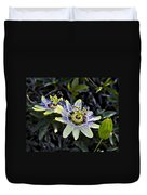 Blue Passion Flower Duvet Cover by Kelley King