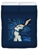 Blue Shimmers Duvet Cover by Jindra Noewi