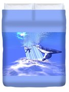 Blue Whales Duvet Cover by Corey Ford