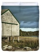Boathouse Duvet Cover by John Greim