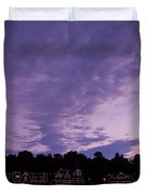 Boathouse Row In Twilight Duvet Cover by Bill Cannon