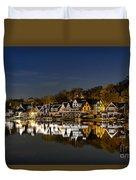 Boathouse Row Duvet Cover by John Greim