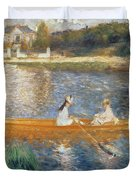 Boating on the Seine Duvet Cover by Pierre Auguste Renoir