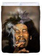 Bob Marley-burning Lights 3 Duvet Cover by Reggie Duffie