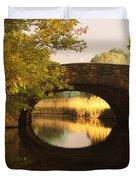 Boston Bridge Reflections Duvet Cover by Lauri Novak