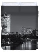 Boston Night Skyline V Duvet Cover by Clarence Holmes