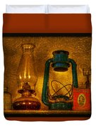 Bottles And Lamps Duvet Cover by Evelina Kremsdorf