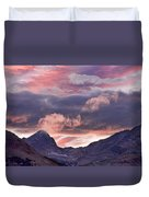 Boulder County Colorado Indian Peaks At Sunset Duvet Cover by James BO  Insogna