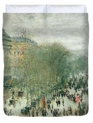 Boulevard Des Capucines Duvet Cover by Claude Monet