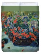Bouquet Of Flowers Duvet Cover by Paul Gauguin