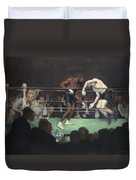 Boxing Match Duvet Cover by George Luks