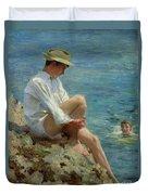 Boys Bathing Duvet Cover by Henry Scott Tuke