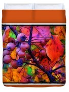 Bradford Pear In Autumn Duvet Cover by Judi Bagwell