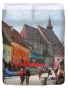 Brasov Council Square Duvet Cover by Jeff Kolker