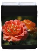 Brass Band Roses Duvet Cover by Rona Black