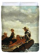 Breezing Up Duvet Cover by Winslow Homer